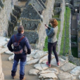 Jean Dujardin et Nathalie Péchalat en voyage au Pérou, mai 2019.