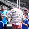 Kylian Mbappé au Stade de France pour la journée Évasion - L'association Premiers de Cordée organise la Journée Evasion où des enfants atteints de maladies rares ont pu rencontrer leurs idoles au stade France à Saint-Denis (banlieue de Paris), Seine Saint-Denis, France, le 22 mai 2019.