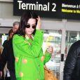 Kendall Jenner arrive à l'aéroport Nice Côte d'Azur lors du 72ème Festival International du Film de Cannes, France, le 22 mai 2019.
