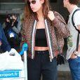 Adèle Exarchopoulos arrive à l'aéroport de Nice en marge du 72ème Festival International du Film de Cannes, le 23 mai 2019.