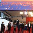 """Pierre Lescure, Frédérique Bredin, Arthur Harari, Gaspard Ulliel, Laure Calamy, Justine Triet (enceinte), Virginie Efira, Niels Schneider, Adèle Exarchopoulos, Paul Hamy - Montée des marches du film """"Sibyl"""" lors du 72ème Festival International du Film de Cannes. Le 24 mai 2019 © Jacovides-Moreau / Bestimage Red carpet for the movie """"Sibyl"""" during the 72nd Cannes International Film festival. On may 24th 201924/05/2019 -"""