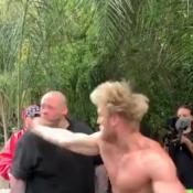 Logan Paul gifle un homme, qui tombe KO, et se retire d'une compétition