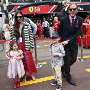 Tatiana Santo Domingo et Andrea Casiraghi, avec Sacha et India au GP de Monaco