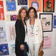"""Anne Gravoin et Christine Orban - Exposition d'Albert Koski """"Rock Art"""" à la Galerie Laurent Godin à Paris le 3 juin 2019. © Coadic Guirec/Bestimage"""