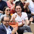 Capucine Anav et son compagnon Alain-Fabien Delon dans les tribunes lors des internationaux de tennis de Roland Garros à Paris, France, le 30 mai 2019. © Jacovides-Moreau