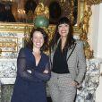 Anne Roumanoff et Mathilda May assistent à la présentation de la nouvelle collection Arthus Bertrand à la Grande Chancellerie de la Légion d'Honneur à Paris, le 3 juin 2019. © Olivier Borde/Bestimage