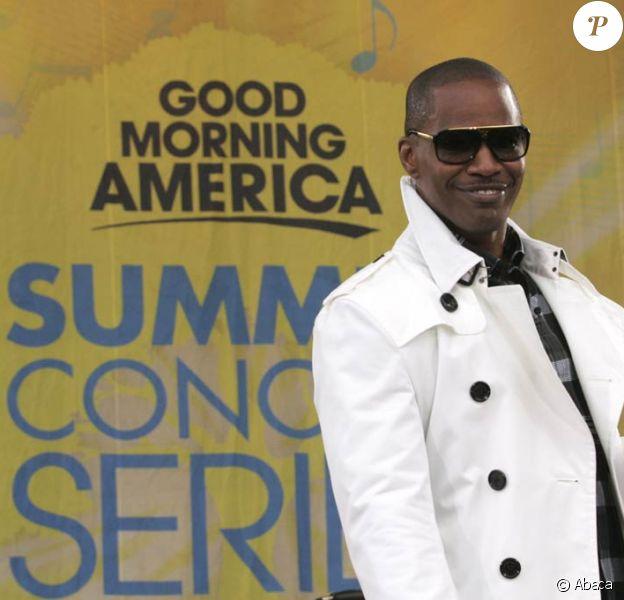 Jamie Foxx en concert dans le show télé Good Morning America depuis Central Park, New York, le 19 juin 2009