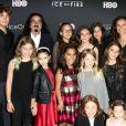 George DiCaprio (père de L. DiCaprio) avec Leila Connors à la première du film Ice on Fire au LACMA à Los Angeles, le 5 juin 2019.