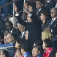 Emanuelle Macron assiste au match d'ouverture de la coupe du monde féminine de football 2019 (Mondial), opposant la France à la Corée du Sud au Parc des Princes. Paris le 7 juin 2019 © Pierre Perusseau / Bestimage