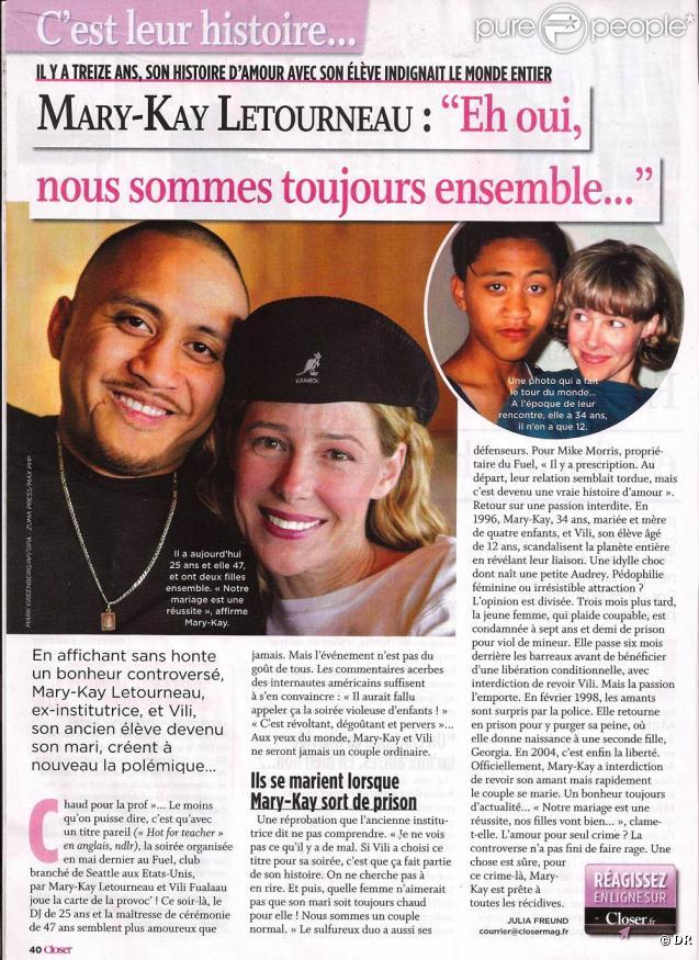 Mary-Kay Letourneau et Vili sont désormais mari et femme