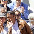 Mads Mikkelsen et sa femme Hanne dans les tribunes des internationaux de France de tennis de Roland Garros à Paris, France, le 8 juin 2019. © Jacovides / Moreau/Bestimage
