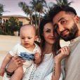 Julia Flabat avec son fils Edan et son chéri Eddy sur Instagram.