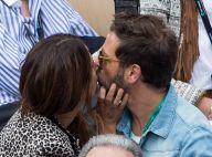 Christophe Maé en couple à Roland-Garros : Doux baiser à sa femme Nadège