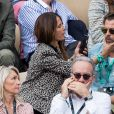 Christophe Maé et Nadège Sarron - People dans les tribunes lors de la finale messieurs des internationaux de France de tennis de Roland Garros 2019 à Paris le 9 juin 2019. © Jacovides-Moreau/Bestimage