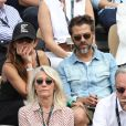 Christophe Maé et Nadège Sarron - Célébrités dans les tribunes des internationaux de France de tennis de Roland Garros à Paris, France, le 9 juin 2019. © Jacovides-Moreau/Bestimage