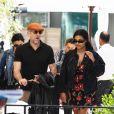 Vincent Cassel, sa femme Tina Kunakey et leur fille Amazonie à la sortie d'un restaurant lors du 72ème Festival International du Film de Cannes, France, le 16 mai 2019.