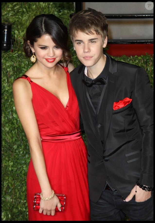 Justin Bieber et Selena Gomez- Soirée Vanity Fair au Sunset Tower Hotel, lors de la 83e cérémonie des Oscar à Hollywood- 27 février 2011.