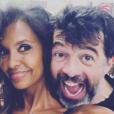 Karine Le Marchand et Stéphane Plaza, un cliché publié le 9 juin 2019 pour les 49 ans de l'animateur.