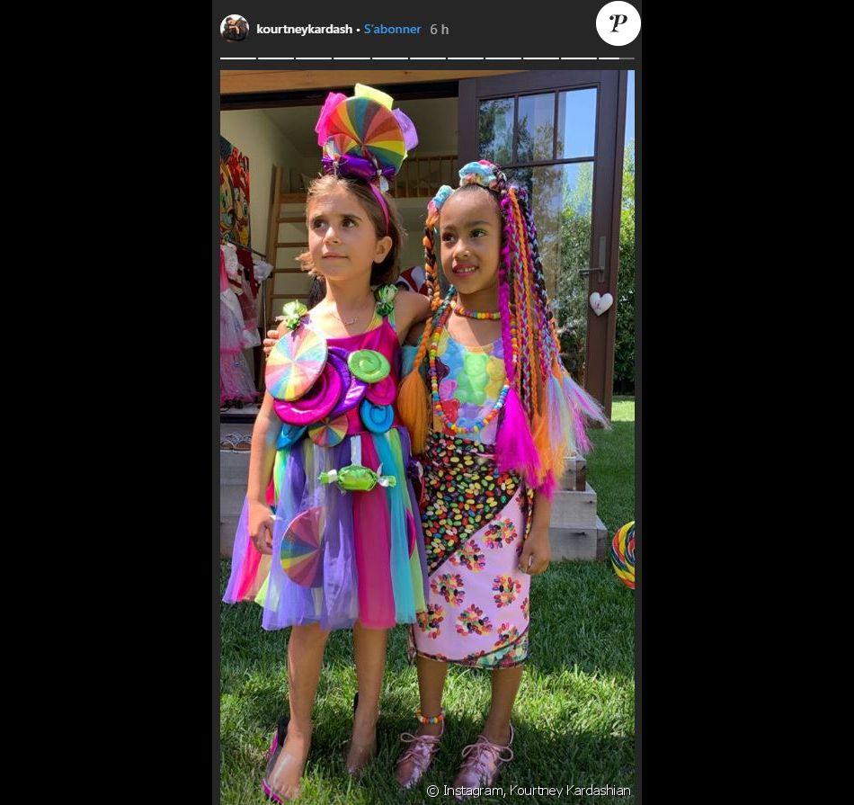 L'anniversaire de North West, fille de Kim Kardashian et Kanye West, et Penelope Disick le 15 juin 2019.