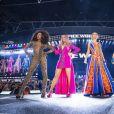 Emma Bunton, Mel B (Melanie Brown), Melanie C (Melanie Chisholm), Geri Horner (Geri Halliwell) - Les Spice Girls en concert dans le cadre de leur tournée Spice World au stade de Wembley à Londres, Royaume Uni, le 13 juin 2019.