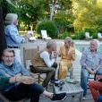 Laeticia Hallyday lors de vacances entre amis à Castet-Arrouy (région Midi-Pyrénées), juin 2019.