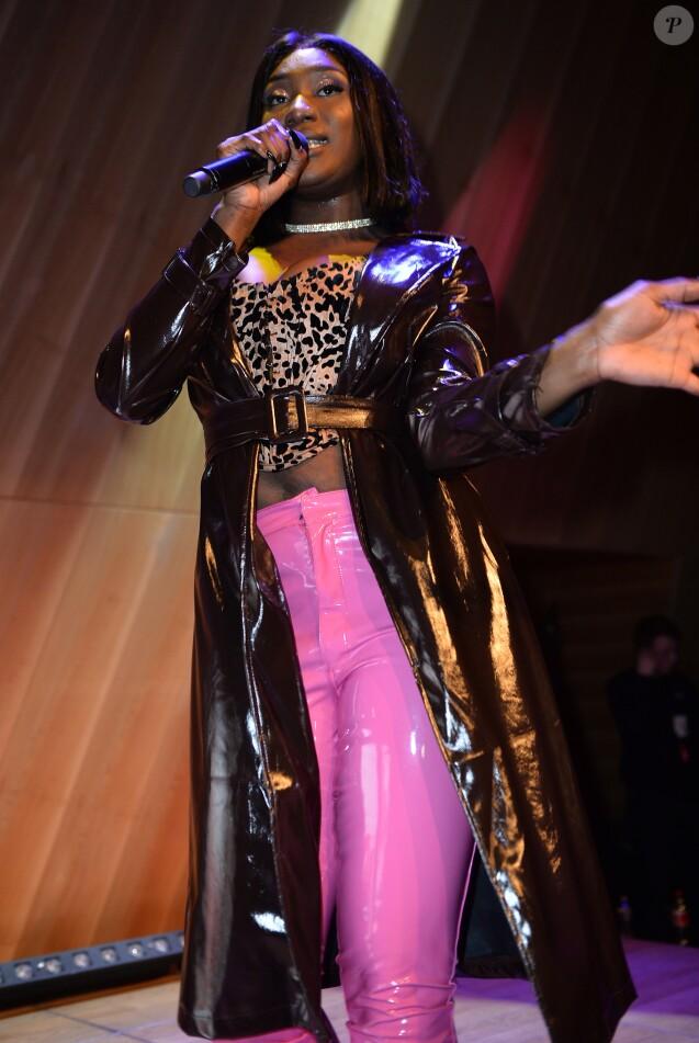 Semi Exclusif - Aya Nakamura en showcase pour NRJ à Paris le 20 février 2019. © Veeren / Bestimage 20/02/2019 - Paris