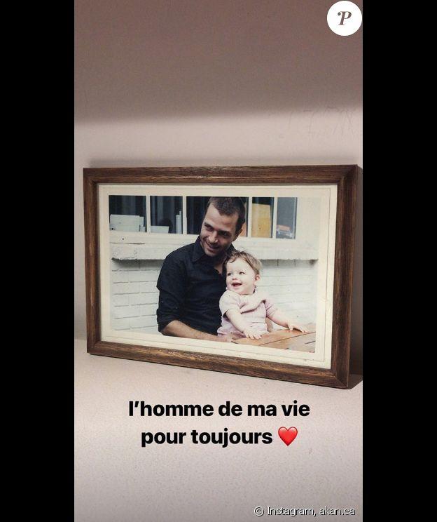 Angelica rend hommage à son père Zdar, sur Instagram.