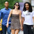 """Kendall Jenner et Luka Sabbat se promènent à SoHo après un déjeuner au restaurant """"Bar Pitti"""". New York, le 19 juin 2019."""
