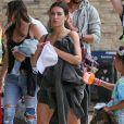Kim Kardashian, North West - La famille Kardashian s'apprête à s'envoler du Costa Rica pour rejoindre le sol américain après y avoir passé des vacances. le 21 juin 2019.