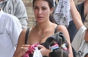 Kim Kardashian : Petite mine sans maquillage, dur retour de vacances