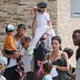 Kim Kardashian, North West, Reign Disick - La famille Kardashian s'apprête à s'envoler du Costa Rica pour rejoindre le sol américain après y avoir passé des vacances. Le 21 juin 2019.
