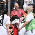 Zinédine Zidane et Melha Bedia lors de la grande finale de la Z5 Cup à Aix-en-Provence, France, 23 juin 2019. © Norbert Scanella/Panoramic/Bestimage