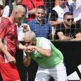 Malik Bentalha et Zinédine Zidane lors de la grande finale de la Z5 Cup à Aix-en-Provence, France, 23 juin 2019. © Norbert Scanella/Panoramic/Bestimage
