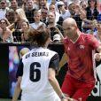 Zinédine Zidane et l'équipe vainqueur de la finale des filles lors de la grande finale de la Z5 Cup à Aix-en-Provence, France, 23 juin 2019. © Norbert Scanella/Panoramic/Bestimage