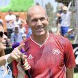 Zinédine Zidane et Vanessa Lemoine lors de la grande finale de la Z5 Cup à Aix-en-Provence, France, 23 juin 2019. © Norbert Scanella/Panoramic/Bestimage