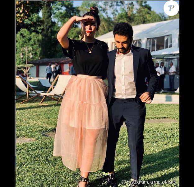 Alma pose avec son amoureux Nazim Khaled, sur Instagram, le 24 juin 2019