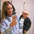 Caroline Receveur et son fils Marlon - 26 avril 2019