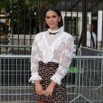 Bruna Marquezine  au défilé Miu Miu à l'hippodrome d'Auteuil à Paris, lors de la Paris Fashion Week, le 29 juin 2019.