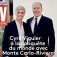 """Couverture de """"TV Magazine"""" montrant Cyril Viguier au côté du prince Albert II de Monaco (juillet 2019)."""