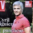 """Cyril Viguier sur la couverture de """"Tv Magazine"""", supplément de Sud Ouest Dimanche."""
