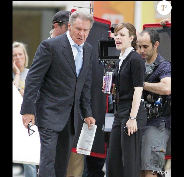 Harrison Ford et Rachel McAdams sur le tournage de Morning Glory à New York le 23 juin 2009