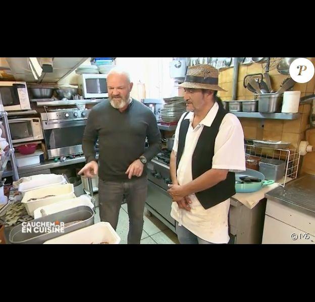 """Philippe Etchebest face à Patrick dans """"Cauchemar en cuisine"""" (M6) le 2 juillet 2019."""