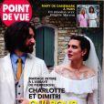 """Le mariage de Charlotte Casiraghi et Dimitri Rassam dans """"Point de Vue"""", en kiosques le 3 juillet 2019."""