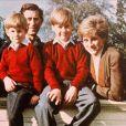 Charles, Diana, Harry et William en février 1991