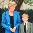 Lady Diana, le prince Charles, le prince Harry et le prince William en septembre 1995