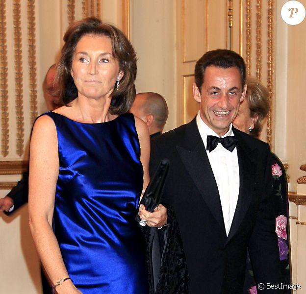 Nicolas Sarkozy et Cécilia Attias le 18 novembre 2006, à Paris.