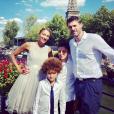 Gil Alma avec son épouse Aminata et leurs enfant Charlie et Sacha, à Paris, en juin 2019