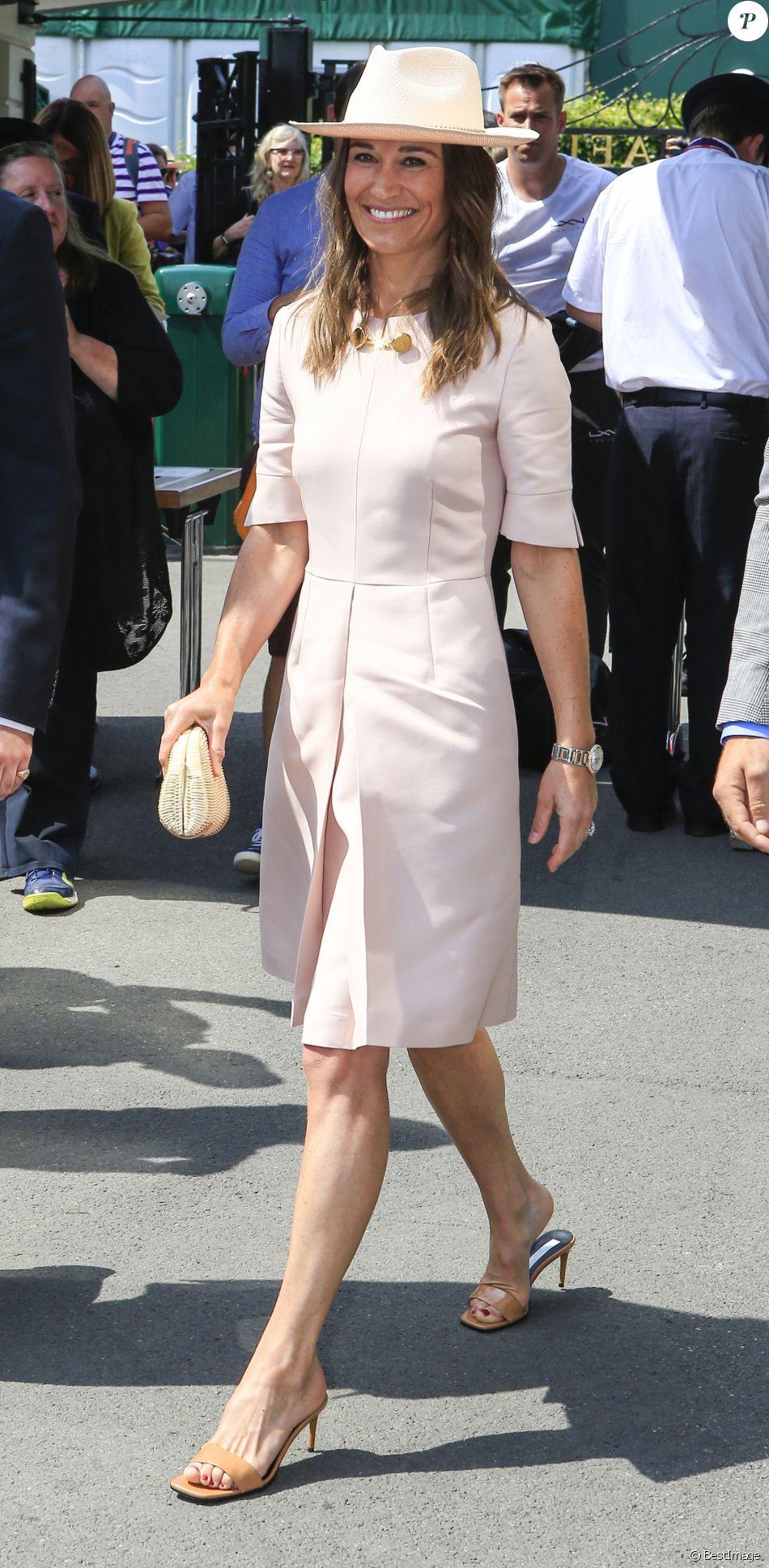 Pippa Middleton lors du tournoi de Wimbledon 2019 à Londres, le 8 juillet 2019.