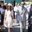 Pippa Middleton et son frère James lors du tournoi de Wimbledon 2019 à Londres, le 8 juillet 2019.