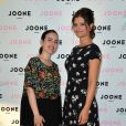 """Exclusif - Maude (Les Anges 5) et Carole Juge-Llewellyn (fondatrice de Joone) assistent à la soirée du deuxième anniversaire de la marque de produits cosmétiques pour femmes enceintes Joone sur la péniche """"La Pause Parisienne"""" à Paris le 10 juillet 2019. © Veeren/Bestimage"""